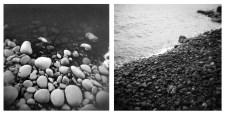 Stones and Water, Tai Chi Series No.6 (2014), silver gelatin print 20 x 40 cm