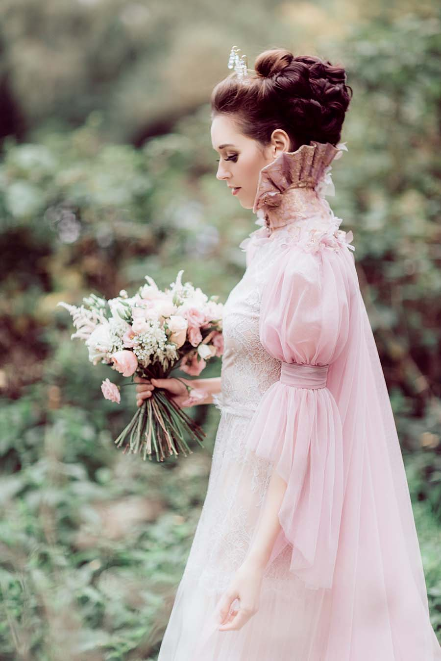 Styled Shoot Utterly Romantic Pink Couture Wedding Dress