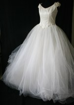 Vintage Fairy Princess Wedding Dress from www.buckinghamvintage.co.uk