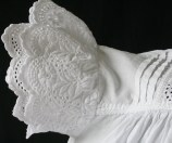 Victorian Christening Dress sleeve detail. www.buckinghamvintage.co.uk