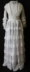 Edwardian Tiered Multi - Layered Muslin Dress