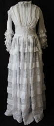 Edwardian Tiered Multi - Layered Muslin Dress