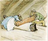 Anna Maria and Samuel Whiskers roll Tom Kitten -www.buckinghamvintage.co.uk