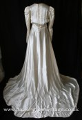 1940's satin wedding dress with impressive train from www.buckinghamvintage.co.uk