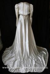 1940's satin wedding dress with impressive train from www.buckinghamvintage.co.uk