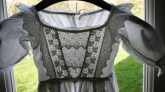 bodice of antique christening gown www.buckinghamvintage.co.uk
