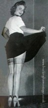 Painted on Seamed stockings World War Two www.bucinghamvintage.co.uk