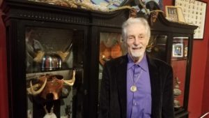 Raymond Buckland at the re-opening of his museum.