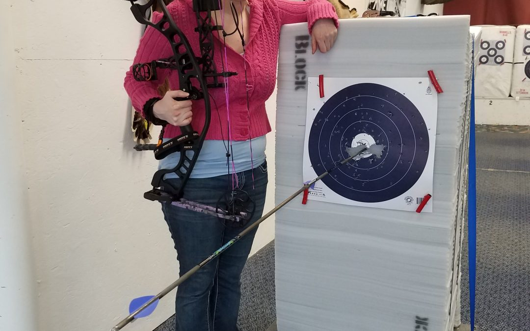 Bethany shot a robin hood with her new Hoyt Ignite