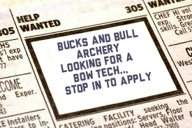 Bow Tech Needed at Bucks and Bulls Archery