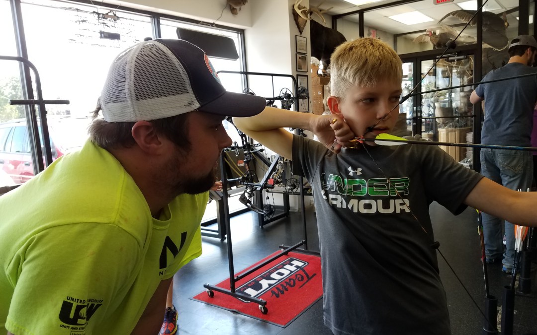 Jase Hintz helping today at the shop….