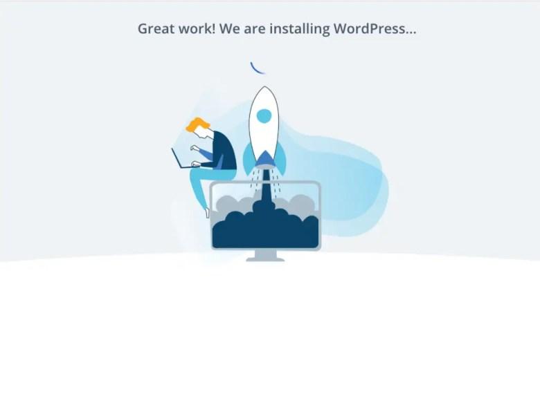 installazione automatica di wordpress