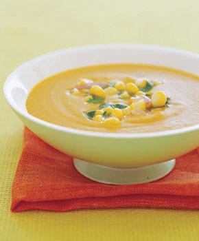 Squash, Corn & Coconut Soup, courtesy www.epicurious.com