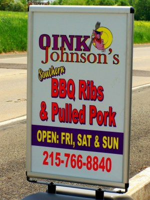 Oink Johnson's BBQ; photo credit Lynne Goldman