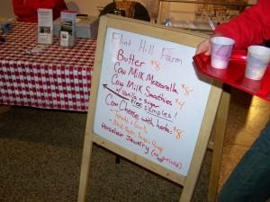 Flint Hill Farm's offerings; photo by L. Goldman