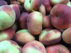 Saturn Donut Peaches, Manoff Market Gardens