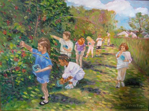 Blackberry Picking at Snipes Farm. Copyright Jean Childs Buzgo.