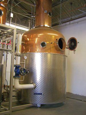 Still at Dad's Hat Rye Whiskey Distillery; photo credit Lynne Goldman