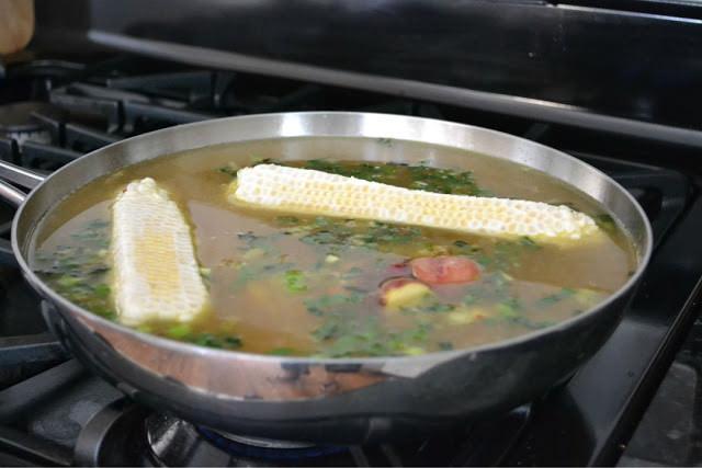Soup on stove