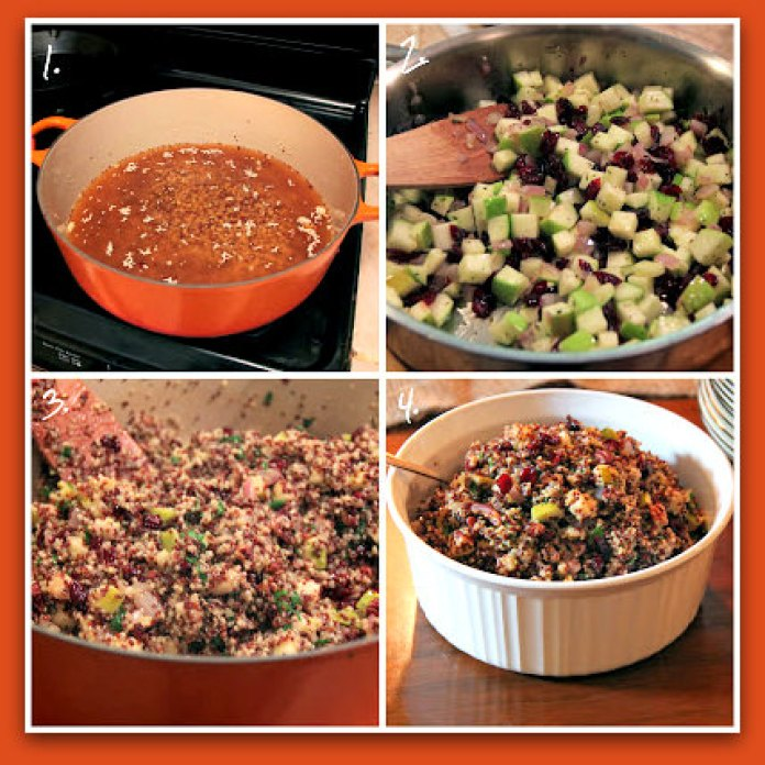 Quinoa pilaf_step by step_frame; photo by H. Kirby