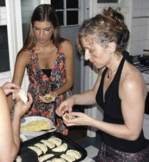 Kendall in Argentina kitchen; photo courtesy of Empanada Mama