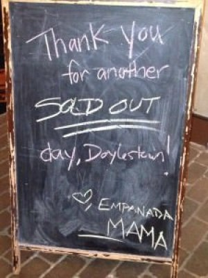 sold out day; photo courtesy of Empanada Mama