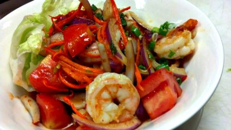Thai tida shrimp dish; photo courtesy of Thai Tida