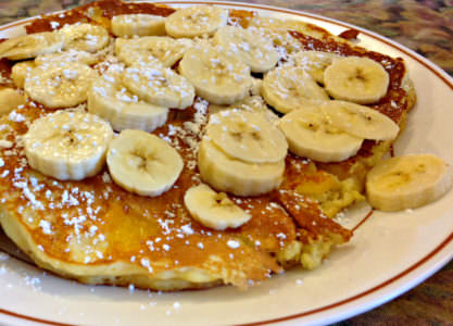 Pancakes with banana_Pat's Colonial Kitchen