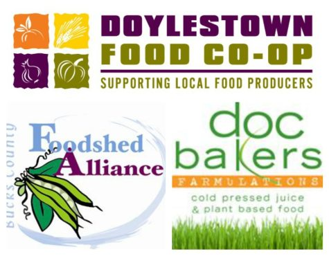 TedX Collage - Doylestown Food Co-op, Bucks County Foodshed Alliance, Doc Bakers Farmulations