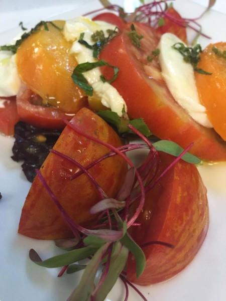 Caleb's tomato mozzarella salad