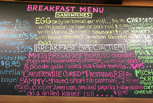 Breakfast Sandwiches at Carversville General Store; photo credit L. Goldman