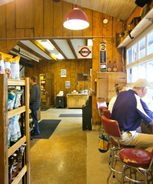 Counter seats at Carversville General Store; photo credit L. Goldman