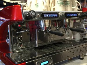 Big Red coffee machine at Lumberville General Store