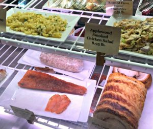 In the deli case at the Lumberville General Store