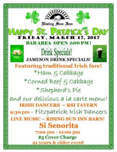 St. Patrick's Day at Rising Sun Inn