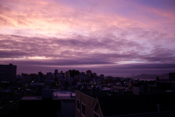 Fall Sunset from Nob Hill rooftop
