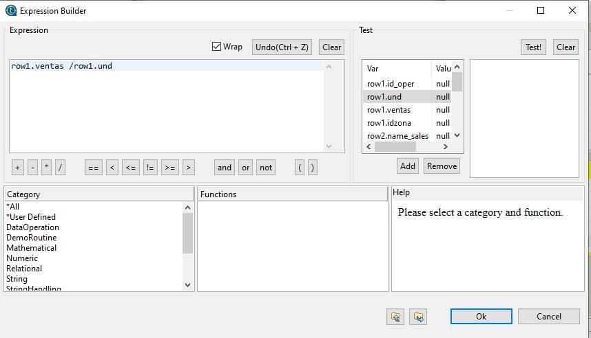 Expresión fórmula tMap