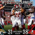 Bucs beat the Jags and win at home.
