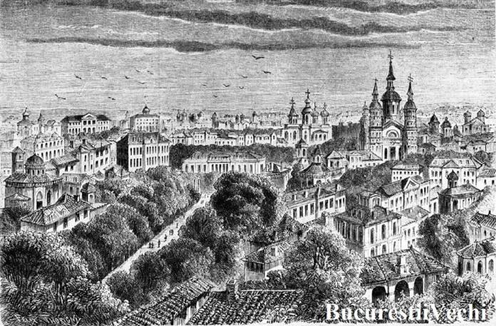 BUCUREȘTI, 1859. Orașul, văzut de pe Dealul Mitropoliei.