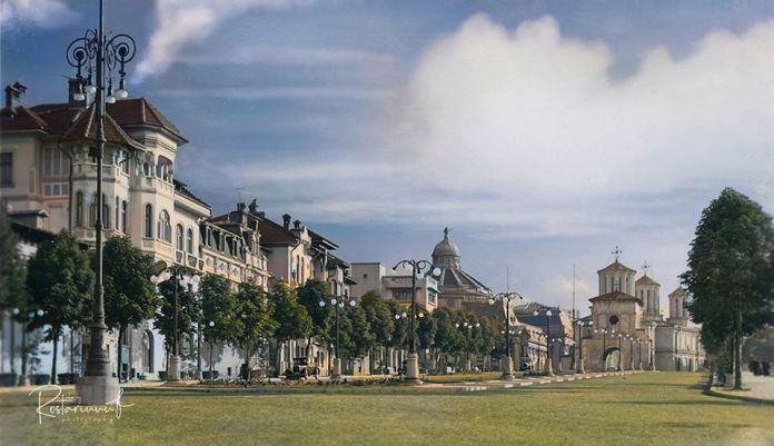 Pe Dealul Mitropoliei –Bucureşti, anii '30