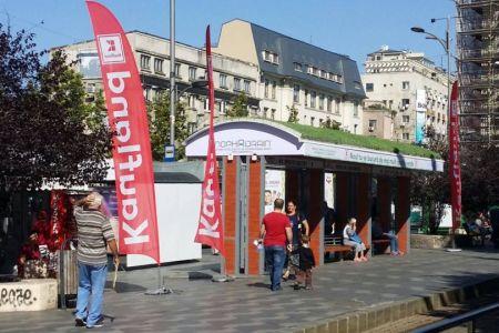 Premiera in Bucuresti: Zeci de statii de tramvai vor avea acoperis verde!