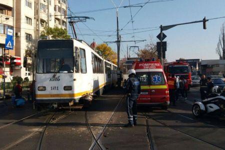 FOTO – Accident intre doua tramvaie, pe Soseaua Progresului!