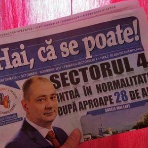 Primarul Sectorului 4 face propaganda politica pe banii bucurestenilor!