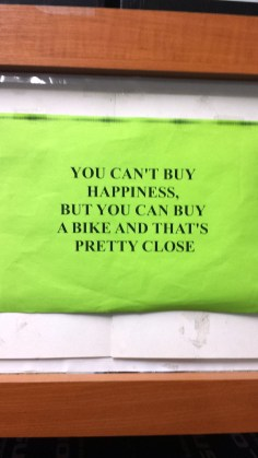 BikeHappinessSign
