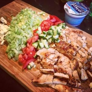 Skjalg makes chicken wraps for dinner!