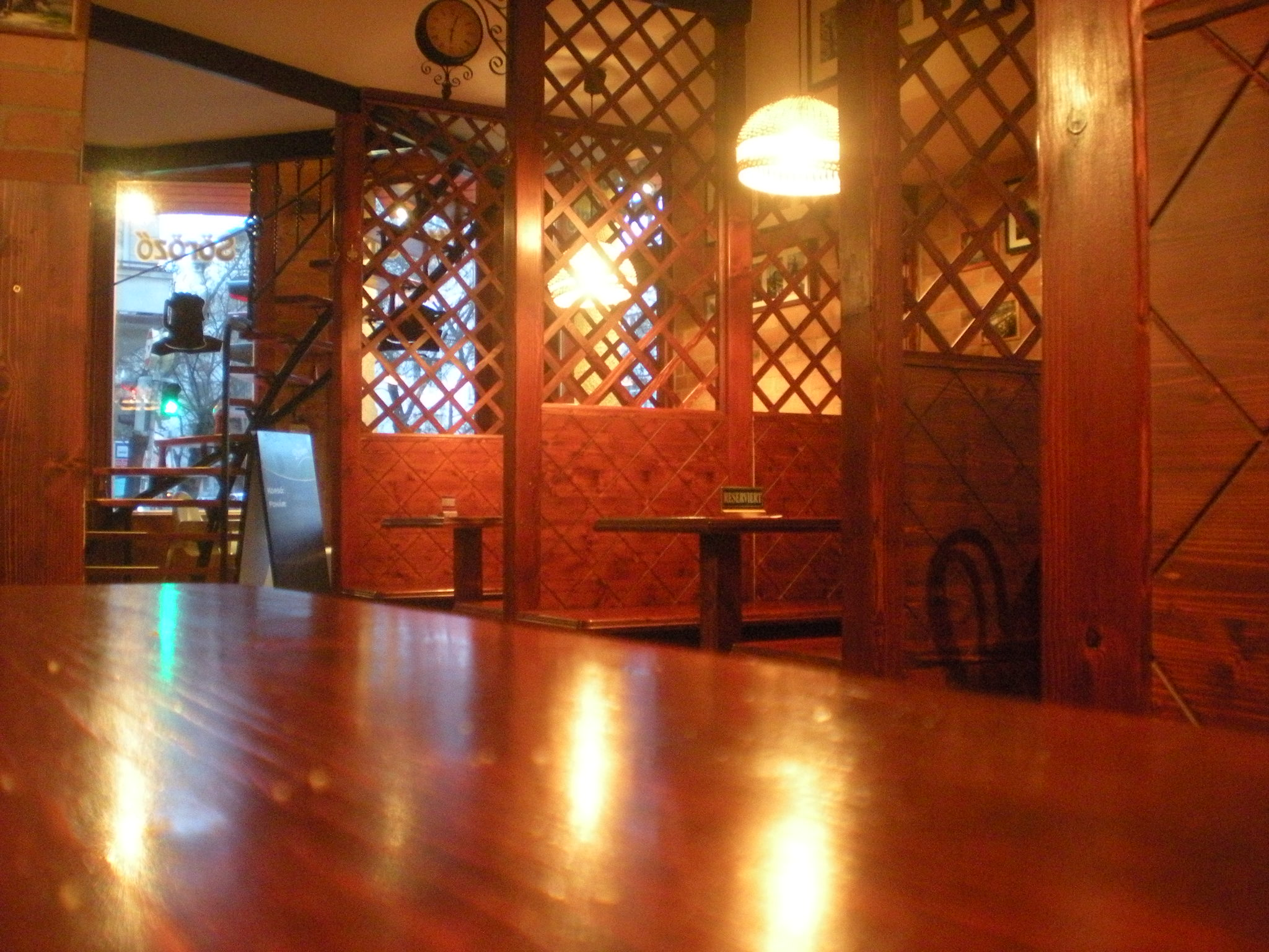 real wood booths