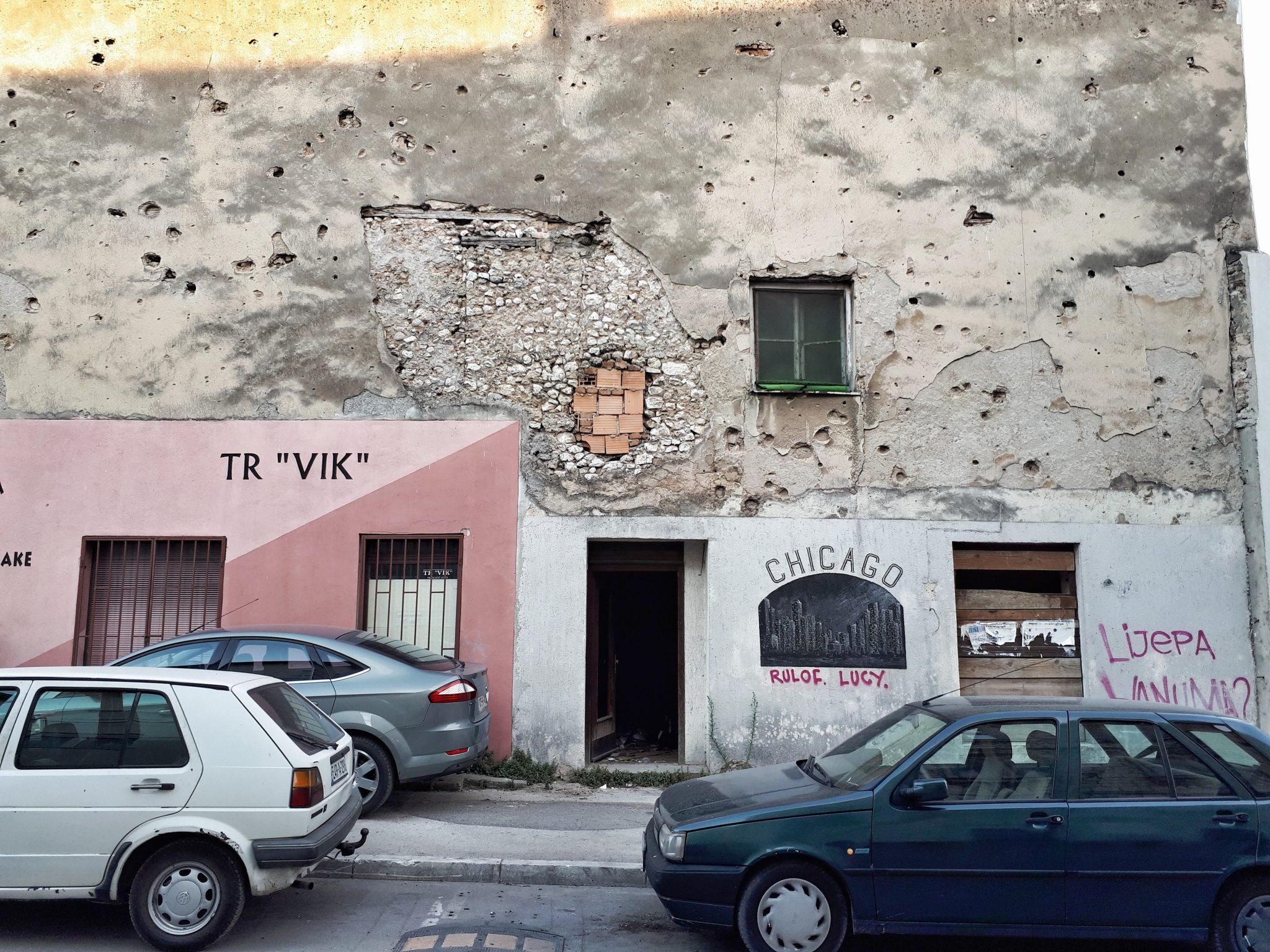 War damage, Mostar, Bosnia and Herzegovina