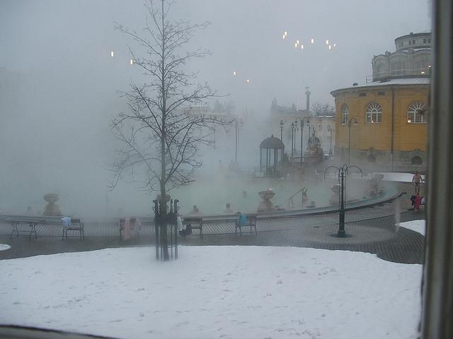 Winter Szechenyi Bath  Budapest River Cruise