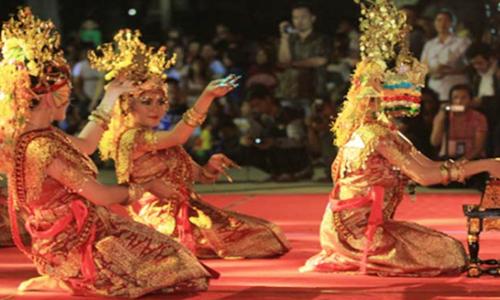 tarian gending sriwijaya sumatera selatan