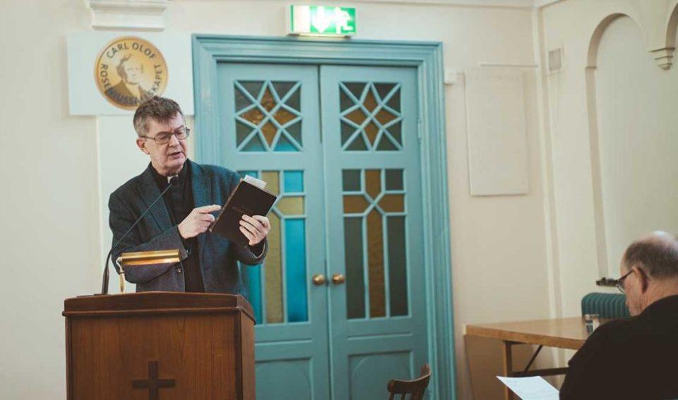 Rune Imberg berättar om arbetet med Rosenius dagbetraktelser